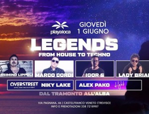 LEGENDS AT PLAYA LOCA — From House to Techno